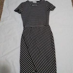 Zara Trafaluc Zebra Striped Dress Size Small
